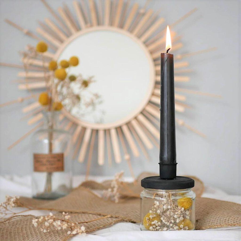 DIY Upcycling Kerzenständer aus Altglas