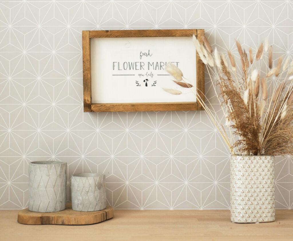 DIY Farmhouse Schild aus Holz