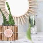 DIY Upcycling Blumentopf mit Treibholz und Modelliermasse