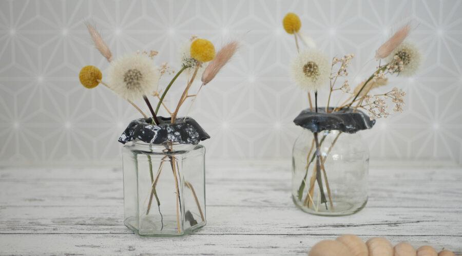 DIY Vasendeckel aus Fimo im Marmor Style