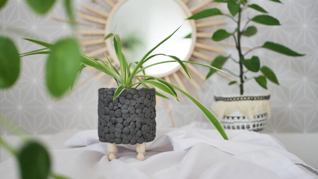 DIY Upcycling Blumentopf aus einer Dose im Skandi Stil