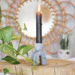 DIY Kerzenhalter aus Modelliermasse in Beton-Optik