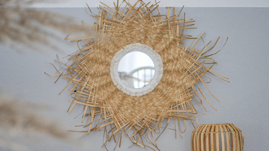 DIY Upcycling Sonnenspiegel aus Strohhut