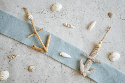 DIY Anker aus Treibholz und Rinde