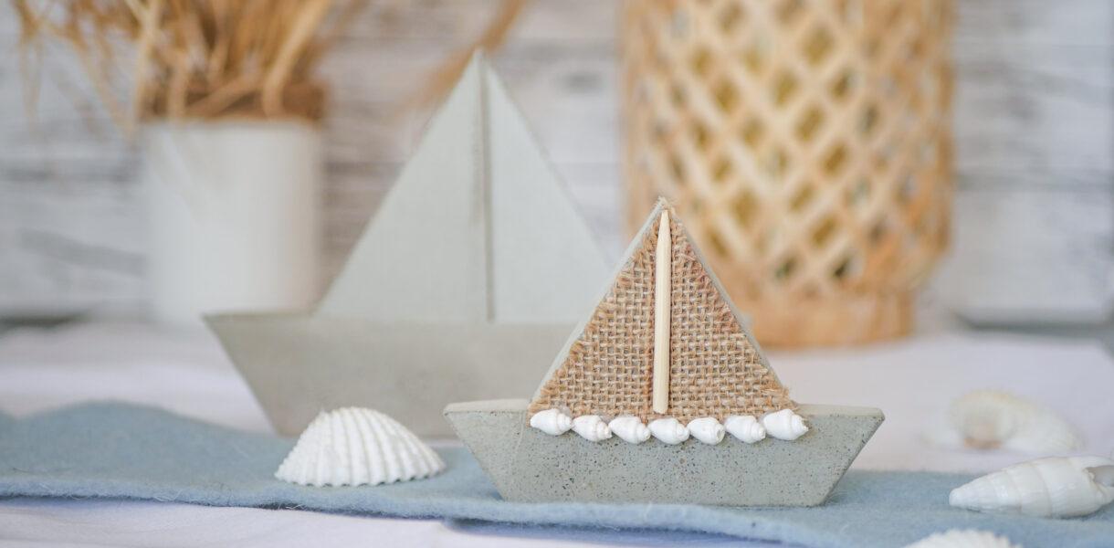 DIY Beton Segelboote aus Upcycling Gießform