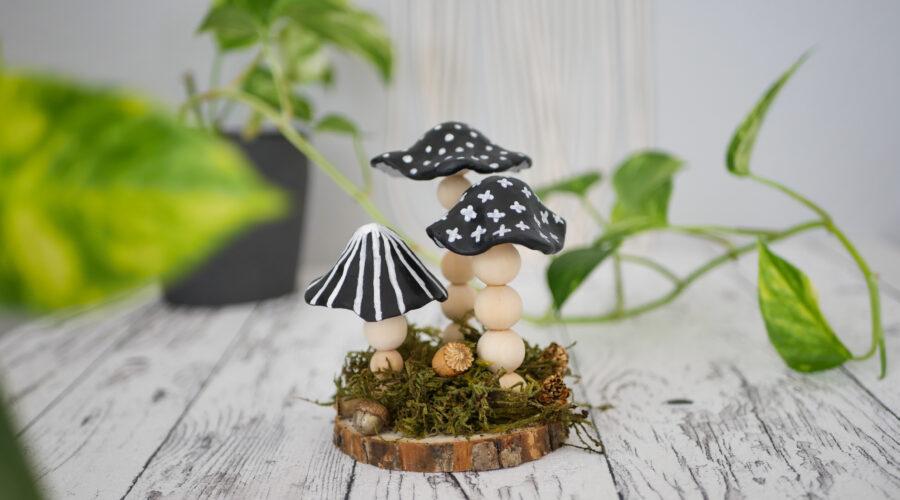 DIY Herbstdeko mit Pilzen aus Modelliermasse im Skandi Style