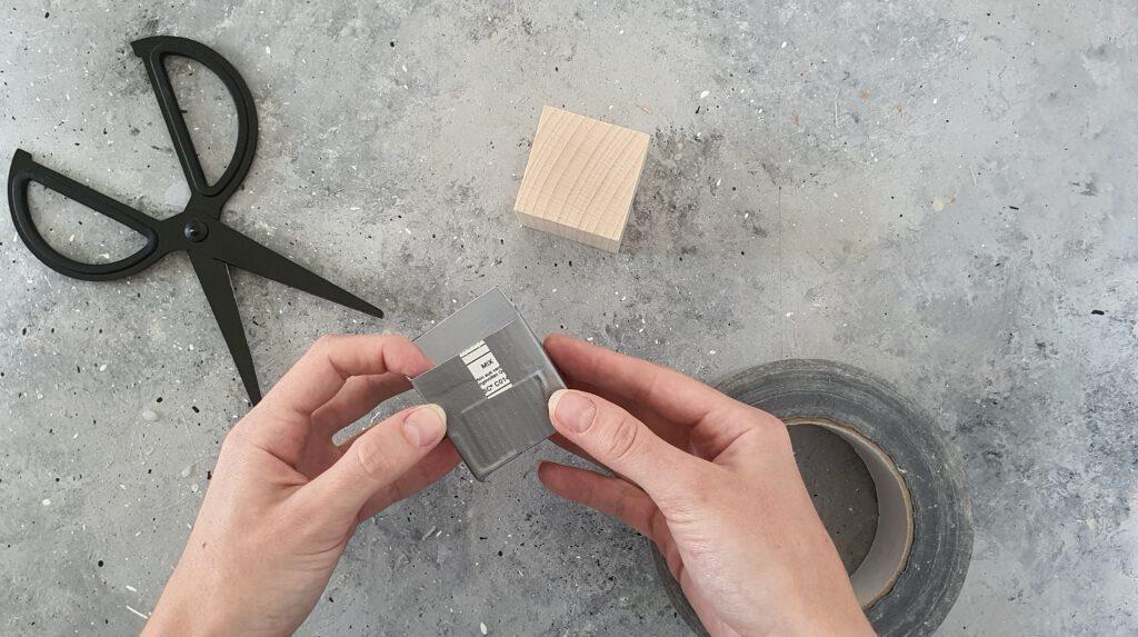 DIY Beton Gießform aus Tetrapack